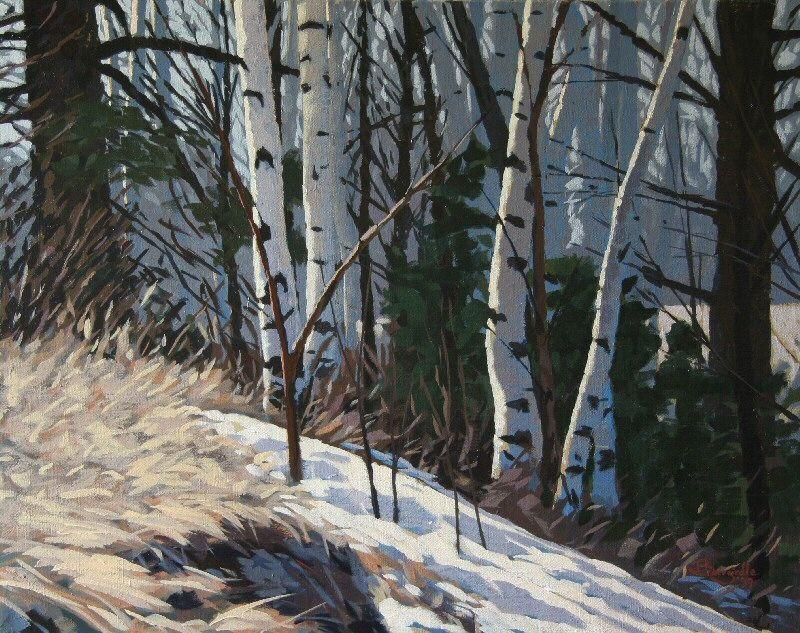 """Larry Bracegirdle (Canadian, born 1948) """"Winter's blue"""""""