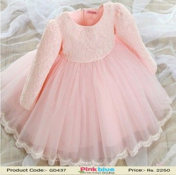 41babc43f64 Gorgeous Designer Pink Princess Birthday Party Frock For Small Baby Girls  2016 by Pinkblueindia ( Size - 3 8 Years Old )