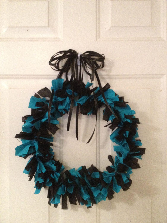 Jacksonville Jaguars Ribbon Rag Fabric Wreath by