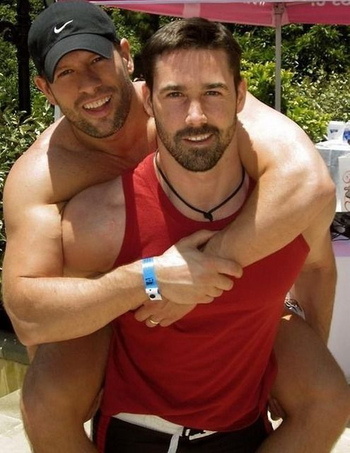 Sensual gay men