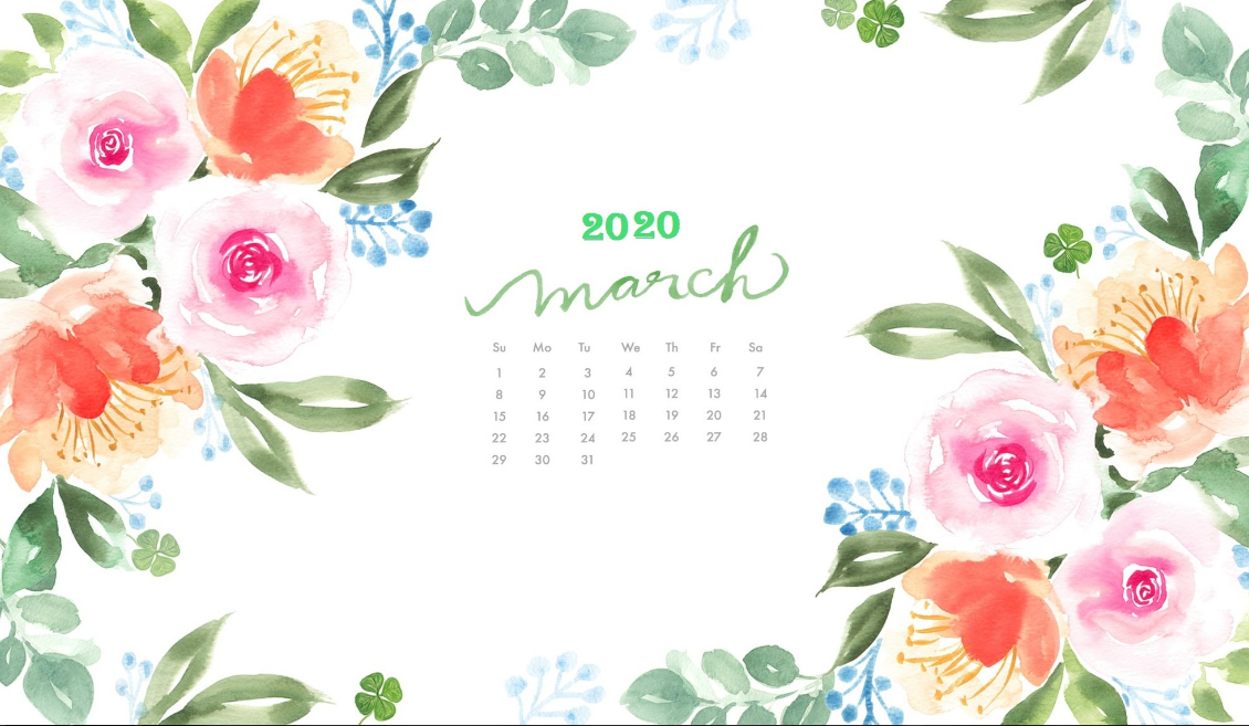 March 2020 Calendar Wallpaper Desktop And Iphone In 2020