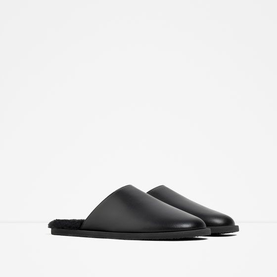 Photo of Image 2 of FLAT LEATHER SLIPPER SHOES from Zara