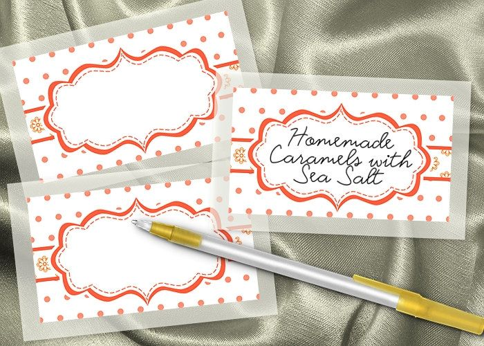 Image detail for -10 Blank Food Label Stickers, Wedding, Candy Buffet Labels, Bridal ...