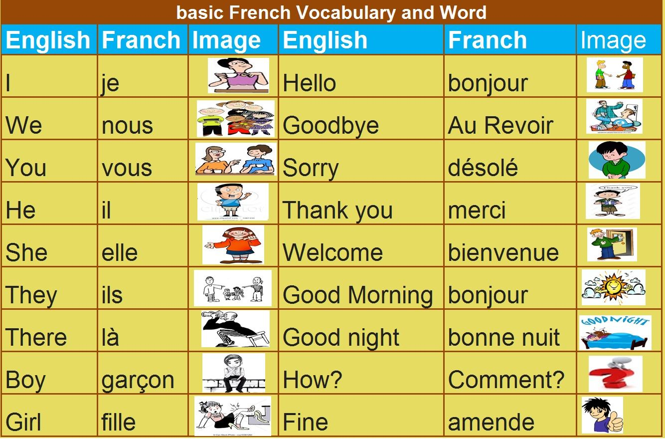 Some basic word and  vocabulary for  beginners who want to learn French language  http://goo.gl/qIFN26 #French #LearnFrench #learnFrenchOnline #Language #FrenchLanguage #LanguageLearning #Education #ForeignLanguage #Vocabulary #words