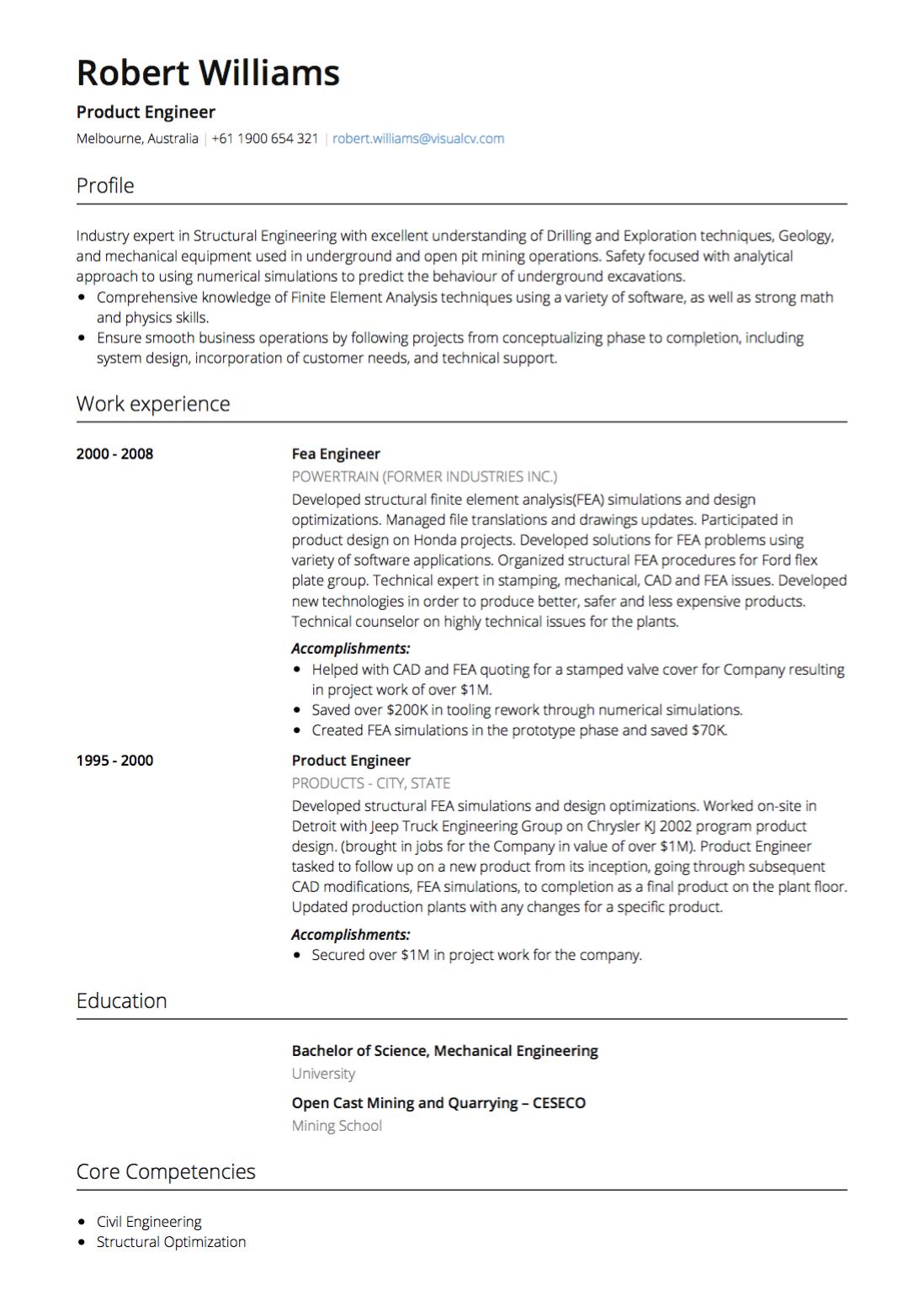 Cv Template Australia Andriblog.design in 2020 Resume