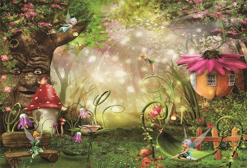 Little Girl Spirits In The Forest Backdrop For Photography Forest Backdrops Fantastic Forest Fairy Garden Ideas Enchanted Forest
