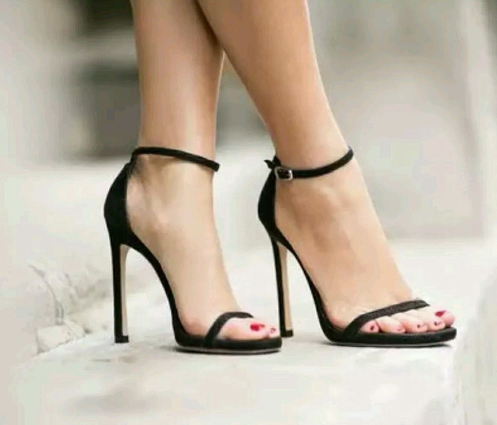 Stuart Weitzman Nudist Song Black Patent Leather Sandal High Heel Shoe Size  9.5  StuartWeitzman  PumpsClassics  any 368c4f2b7c97