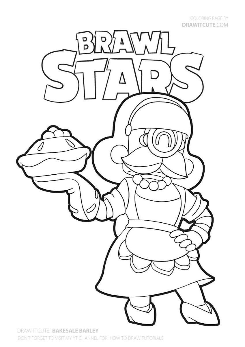 Bakesale Barley Coloring Page Brawlstars Coloringpages Fanart Star Coloring Pages Coloring Pages Cool Coloring Pages