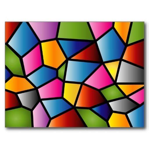 Abstract Stained Glass | Abstract Stained Glass Postcard