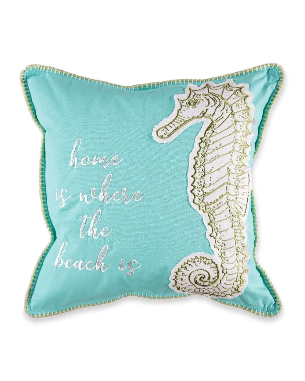 Dover Home Is Where The Beach Is Decorative Pillow Decorative