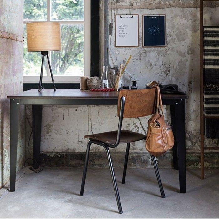 mesa escritorio vintage scuola estilo industrial