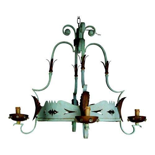 1940s french tole chandelier lightingacy porterpoetic 1940s french tole chandelier mozeypictures Image collections