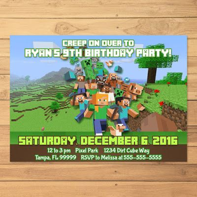 Free Minecraft Printables Minecraft Invitation Printable and