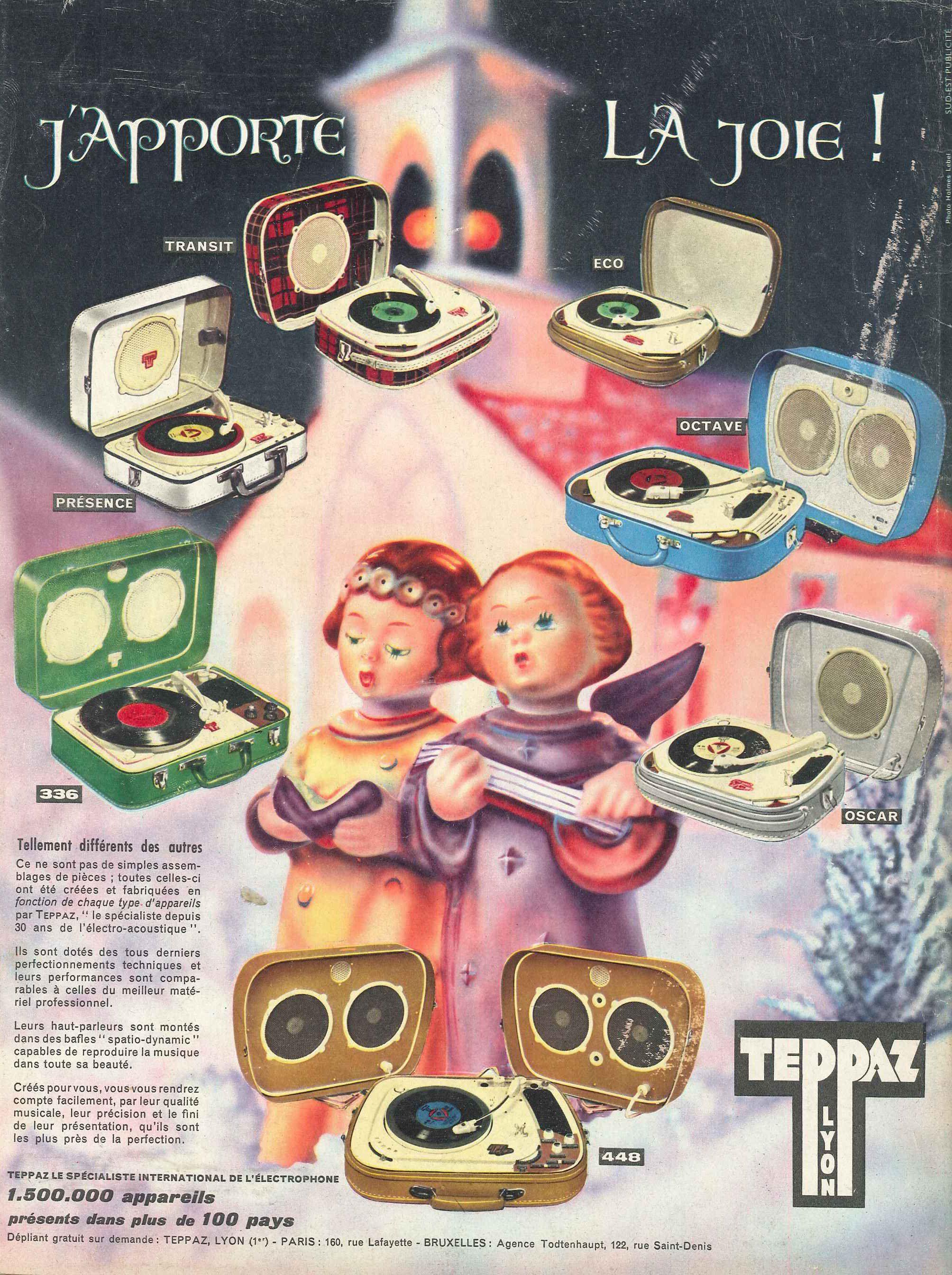 Teppaz. Paris Match n°610 du 17 décembre 1960