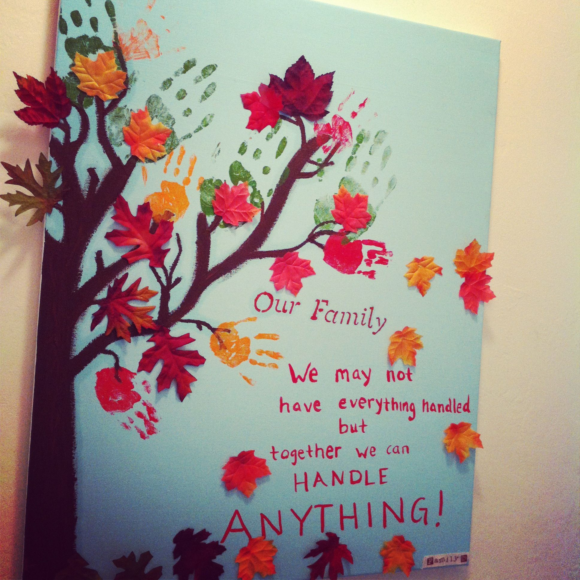 Family Hand Print Tree Products Love
