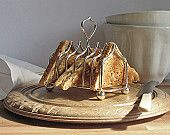Silver plated Toast Rack, Sweet-heart handle, English vintage, six slice, EPNS, 1900s – 1910s