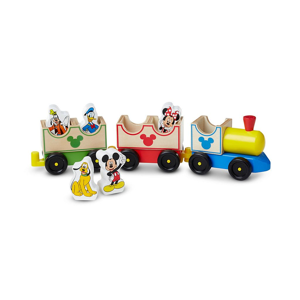 Disney Mickey Mouse and Friends All Aboard Wooden Train by Melissa ...