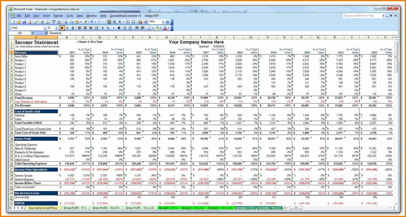 40 10 Year Plan Template In
