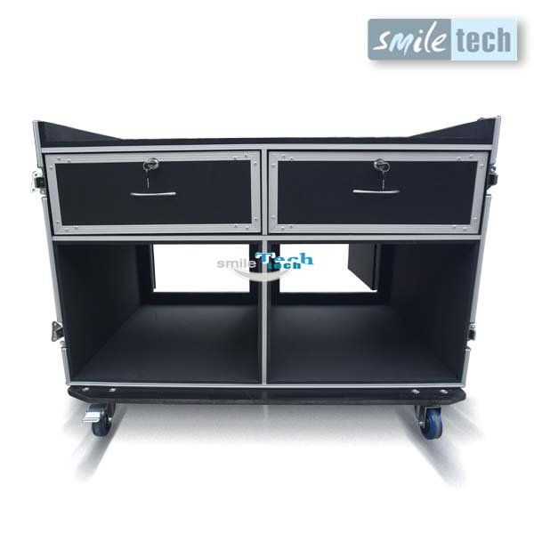 Flight Case Lockable Drawer Case With Two Interior Drawers And Case Interior Drawers