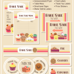 this photo shows bake sale label set exclusive free printable