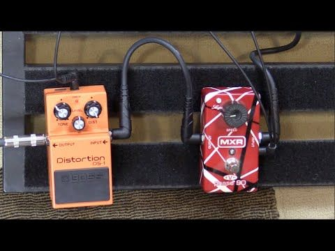 Does a phaser pedal go after or before distortion? Guitar Pedal Placement Vid