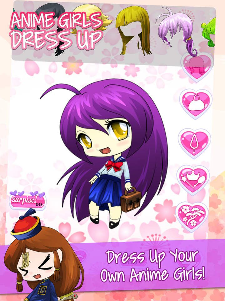 anime character dress up games
