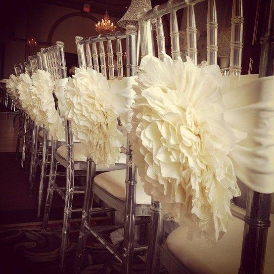Wedding Chair Backs Ruffled Reception Decorations Weddings Superweddings