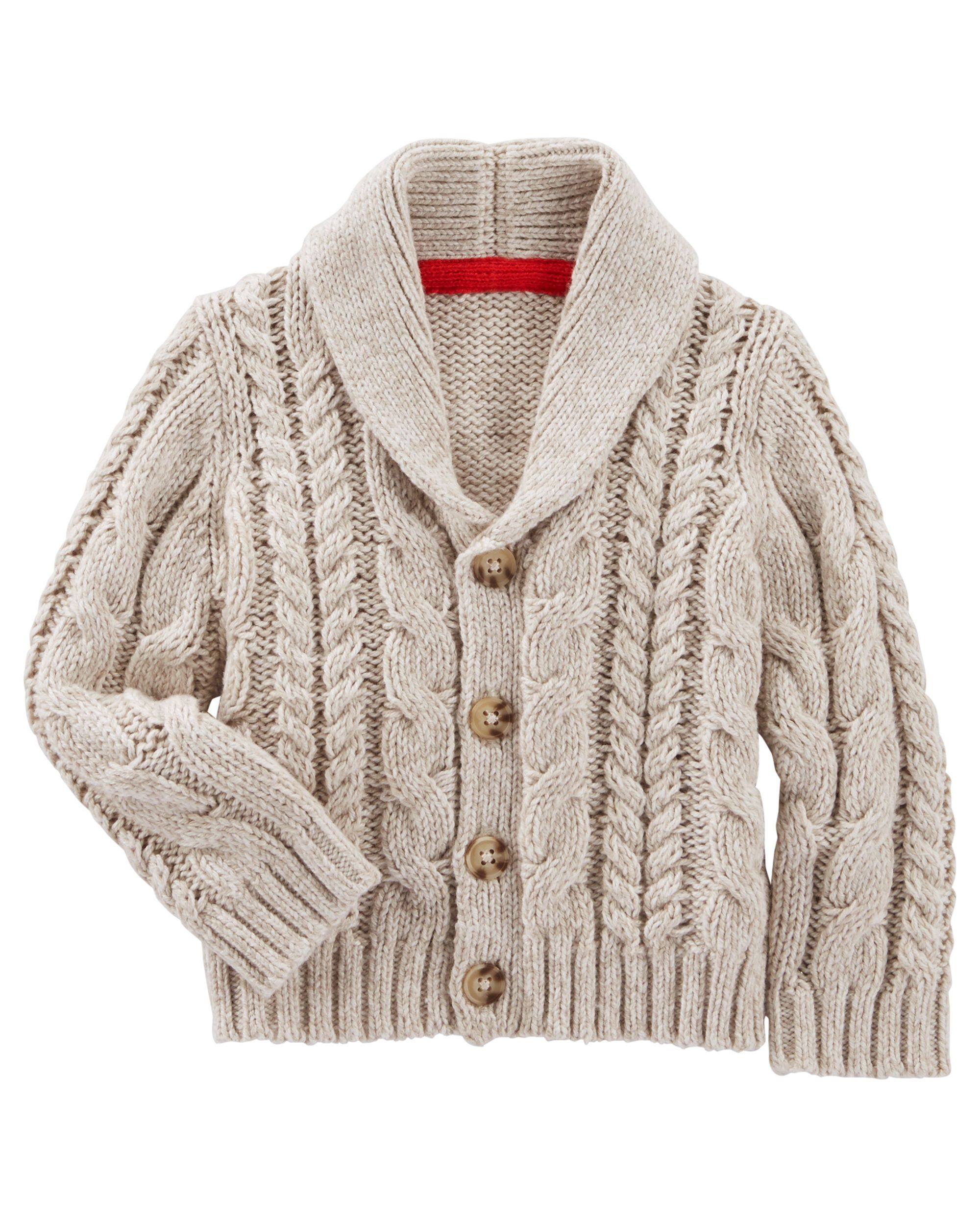 4595a1168 Baby Boy Shawl Collar Cardigan from OshKosh B'gosh. Shop clothing &  accessories from a trusted name in kids, toddlers, and baby clothes.