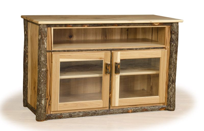 Log Entertainment Center, Rustic TV Stand, Hickory Furniture ...