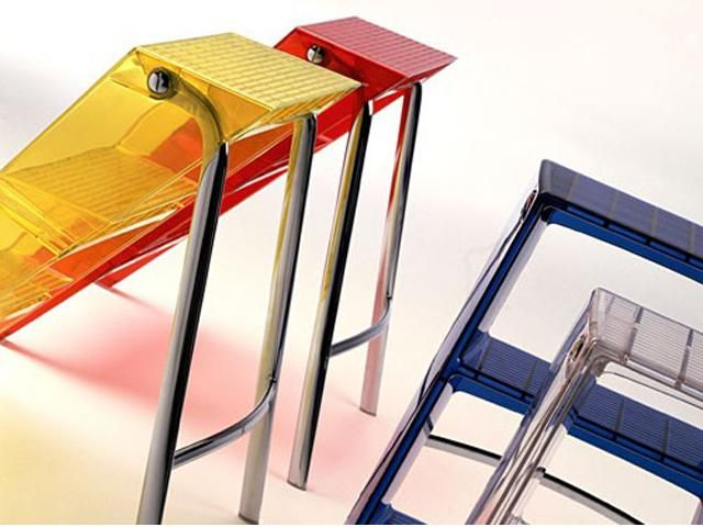 Sgabello upper kartell chairs and stools the new way of