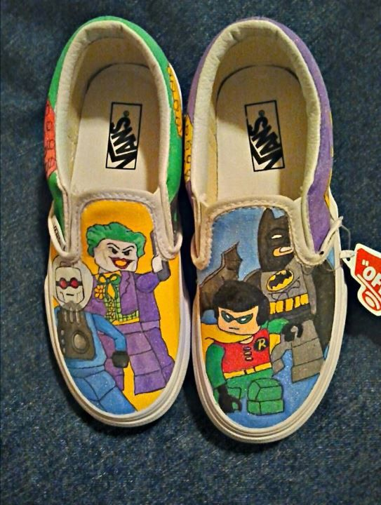 6b027c36d2 Handpainted Lego Batman on Vans shoes by ThePaintedChild on Etsy ...