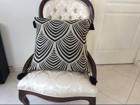 couture madalena housse de coussin avec fermeture clair. Black Bedroom Furniture Sets. Home Design Ideas