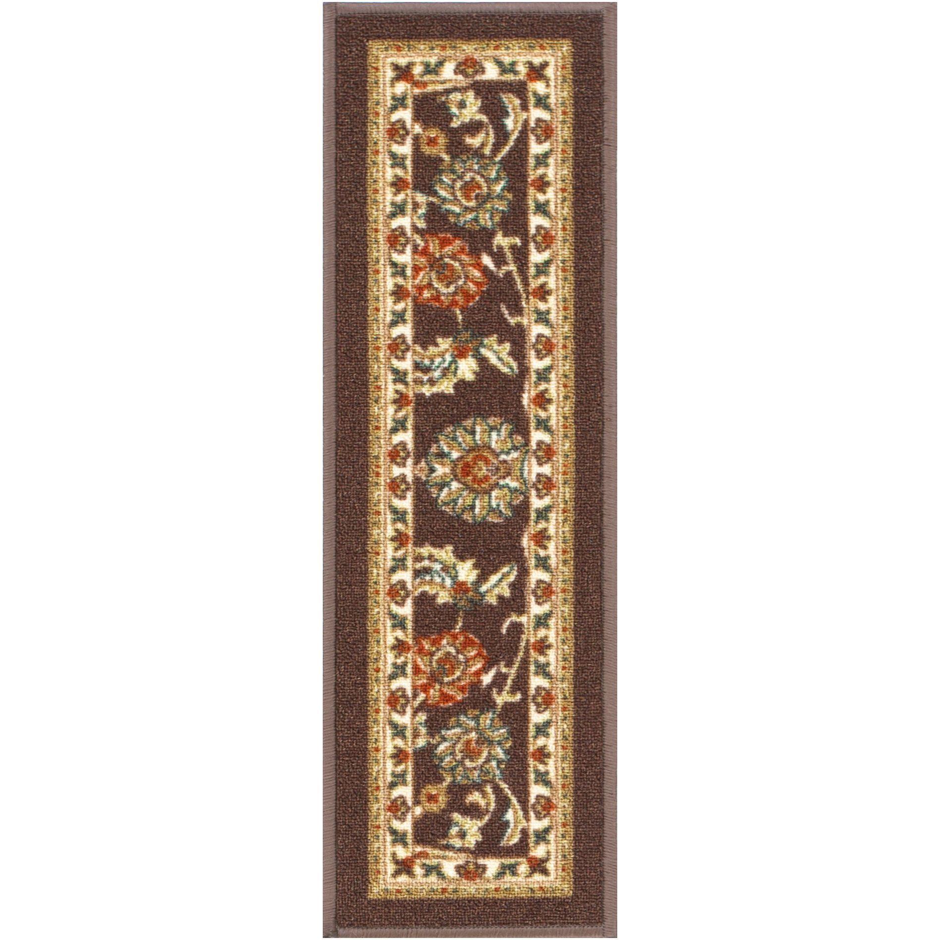 Best Tabriz Traditional Brown Non Slip 9 X 31 Stair Tread 400 x 300