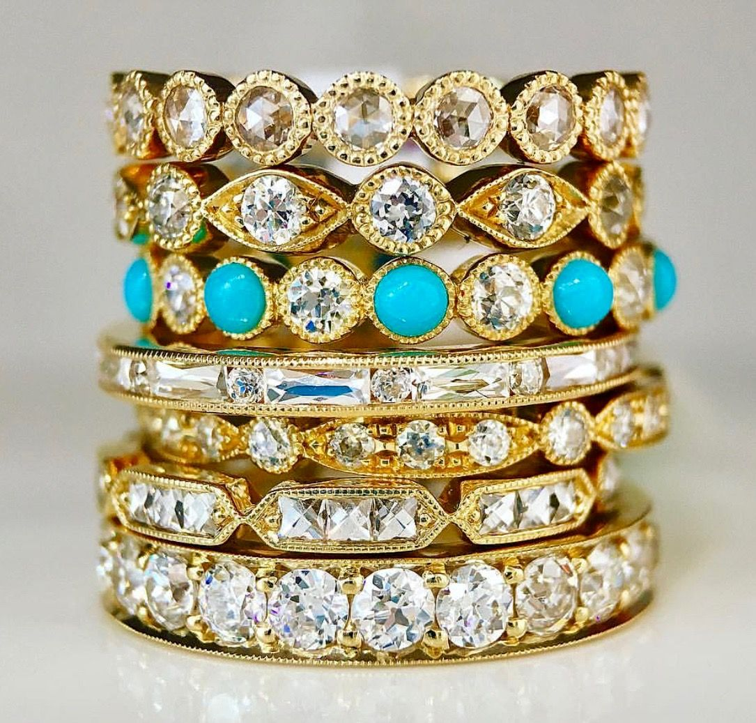gold bands il listing wedding zoom fullxfull stacking rose rings