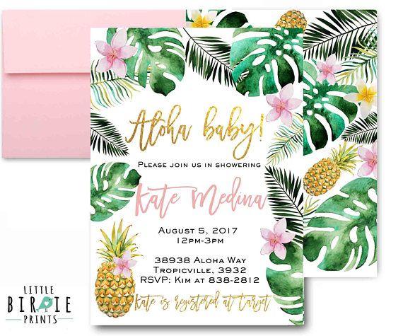 Tropical Baby Shower Invitation Pinele