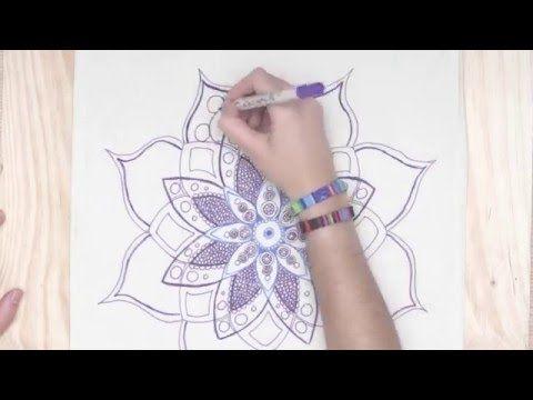 Tutorial: ¿Cómo dibujar un mándala fácil? | Manualidades