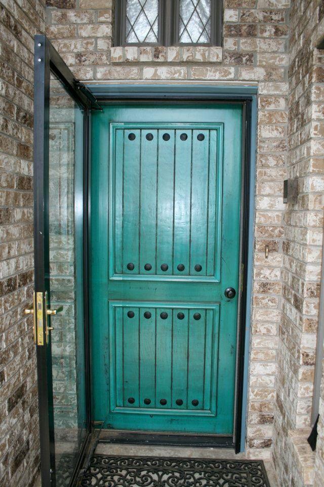 Distressed Turquoise Front Door Blue Doors Pinterest Front Doors And Doors