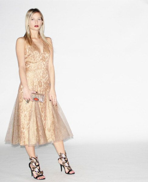 Etsy Designer Aiseirigh | Lace cocktail dresses, Gold lace and ...
