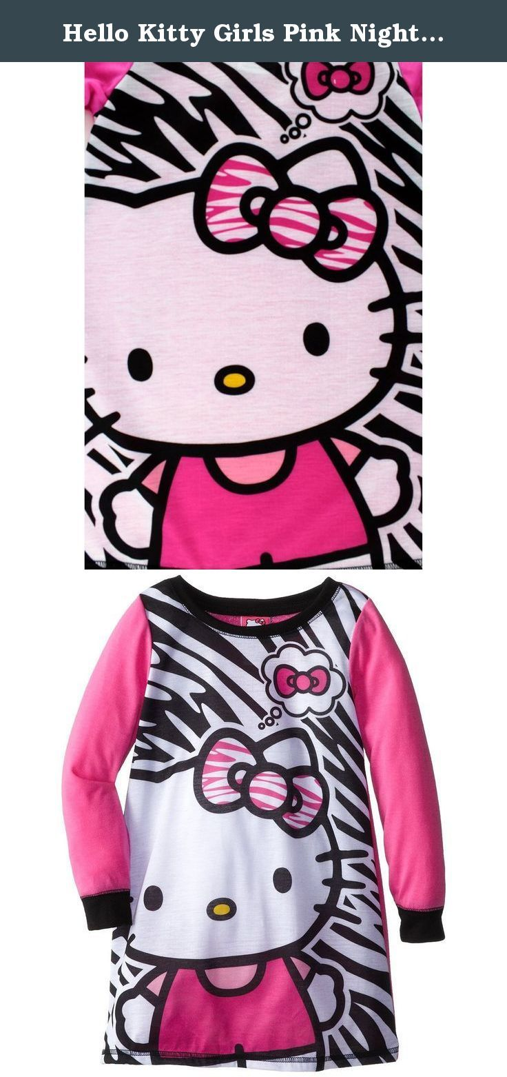 Hello kitty girls pink nightgown pajamas happiness comes in all