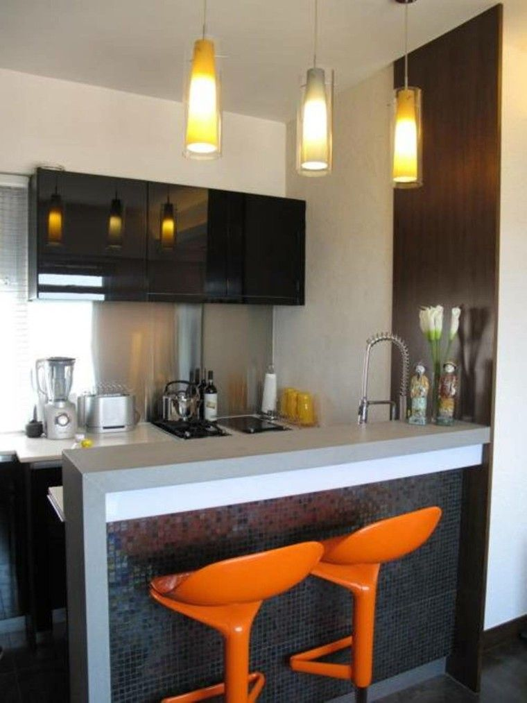 Barras De Cocina De Diseno Moderno 50 Ideas Cocinas Muebles De