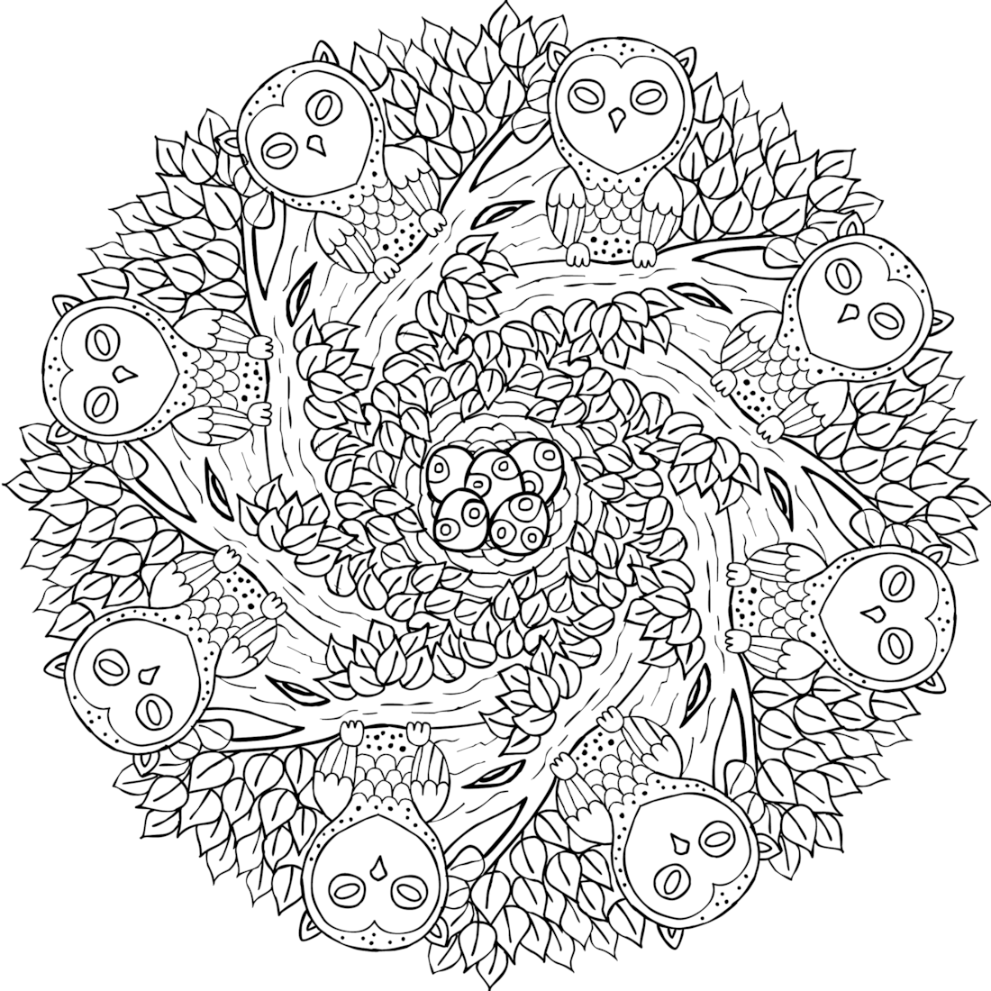 quot Old Souls quot free printable mandala coloring page from