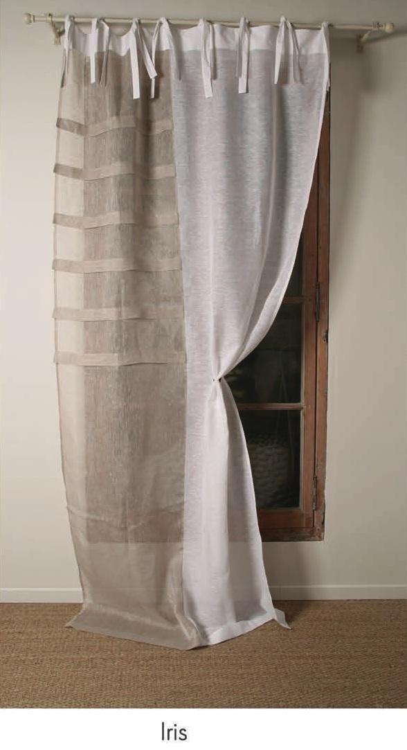Rideau voile de lin blanc et beige Modèle IRIS | Wiɳɗ◎ω TɽҼɑʈμҼɳʈ ...