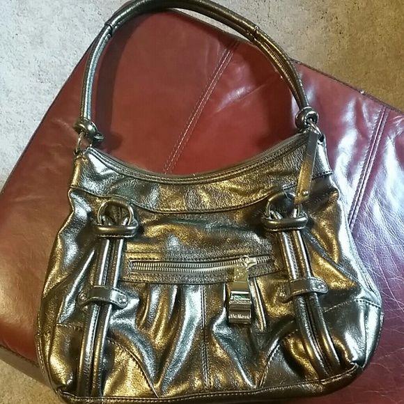 73bf7f9d0921 Genna De Rossi handbag Bronze color has small ink marks inside 13 x 9 good  condition genna De Rossi Bags