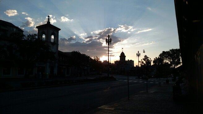 Plaza   Kansas City Literally #nofilter as I captured the sunrise on my run. #myviewfromkc