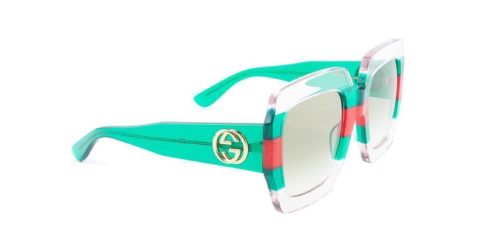b01a2e8445 Gucci - GG0178 Clear - Green sunglasses