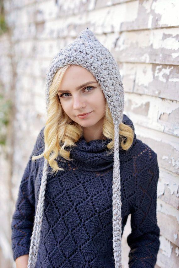 Hand Crochet Women\'s Hat / Crochet Pixie Hat for Women / Crochet ...