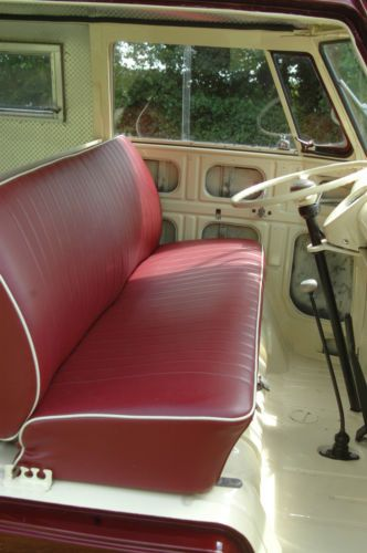 Fabulous Red Bench Seat In Splitscreen Van Volkswagen Karmann Ghia Gmtry Best Dining Table And Chair Ideas Images Gmtryco