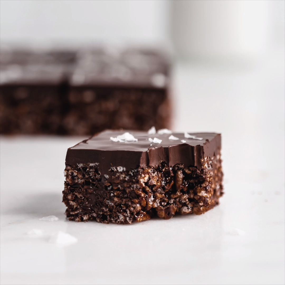 Healthy Chocolate Rice Krispie Treats #ricekrispiestreats