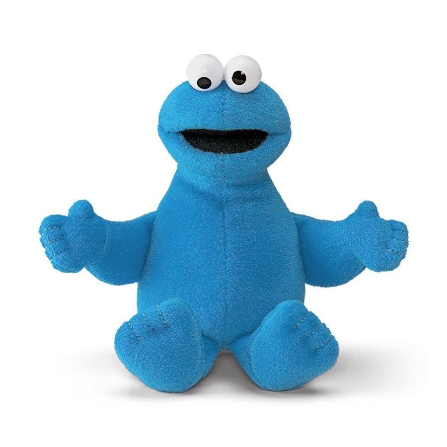 "Sesame Street Cookie Monster Beanbag 6"" Plush # 075933 Gund NWT #GUND"