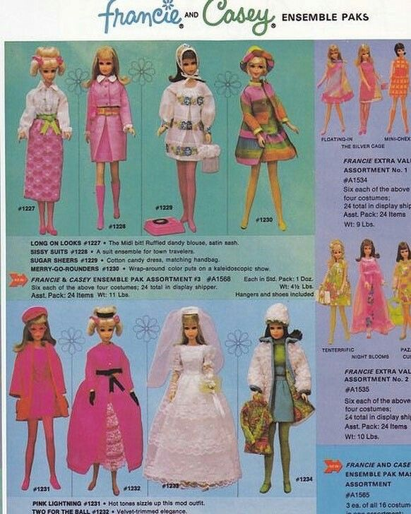 Vintage Mod 1971 Francie Casey Twiggy Peach Blush Plush Fashion Skirt 3461 Mod Era